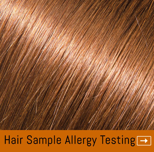 allergy testing through a hair sample